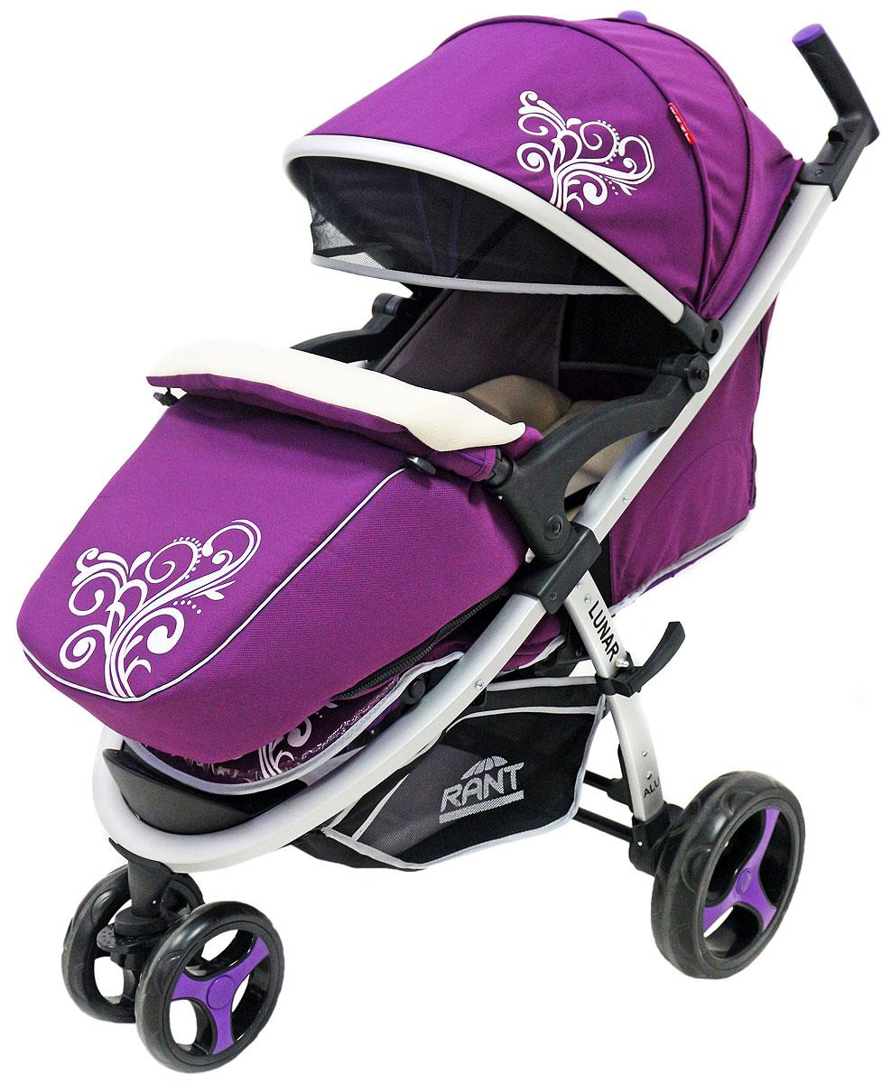 Rant Коляска прогулочная Lunar цвет сиреневый4630008875124Трехколёсная прогулочная коляска LUNAR от торговой марки RANT – одна из самых популярных моделей, станет незаменимым помощником для родителей малышей от 6-ти месяцев до 3-х лет. Практичная, легкая и комфортная коляска выполнена в спортивном стиле. Модель представлена в нескольких цветовых решениях: фиолетовый, салатовый, бежевый, коричневый, черный. Прогулки с малышом будут приносить удовольствие и комфорт с коляской LUNAR . Благодаря тому, что спинка сиденья фиксируется в нескольких положениях, а наклон регулируется до горизонтального положения, Ваш малыш всегда примет удобную позу для сна и для прогулки. Сиденье дополнено мягким вкладышем, который сохранит тепло и комфорт малыша. Вкладыш оснащен дополнительной боковой поддержкой в области плеч и ног, что помогает фиксировать правильное положение спины и формировать осанку ребенка. Увеличенный складной капюшон коляски LUNAR защитит Вашего ребенка от солнца и ветра. Задняя стенка капюшона на молнии, легко снимается для...