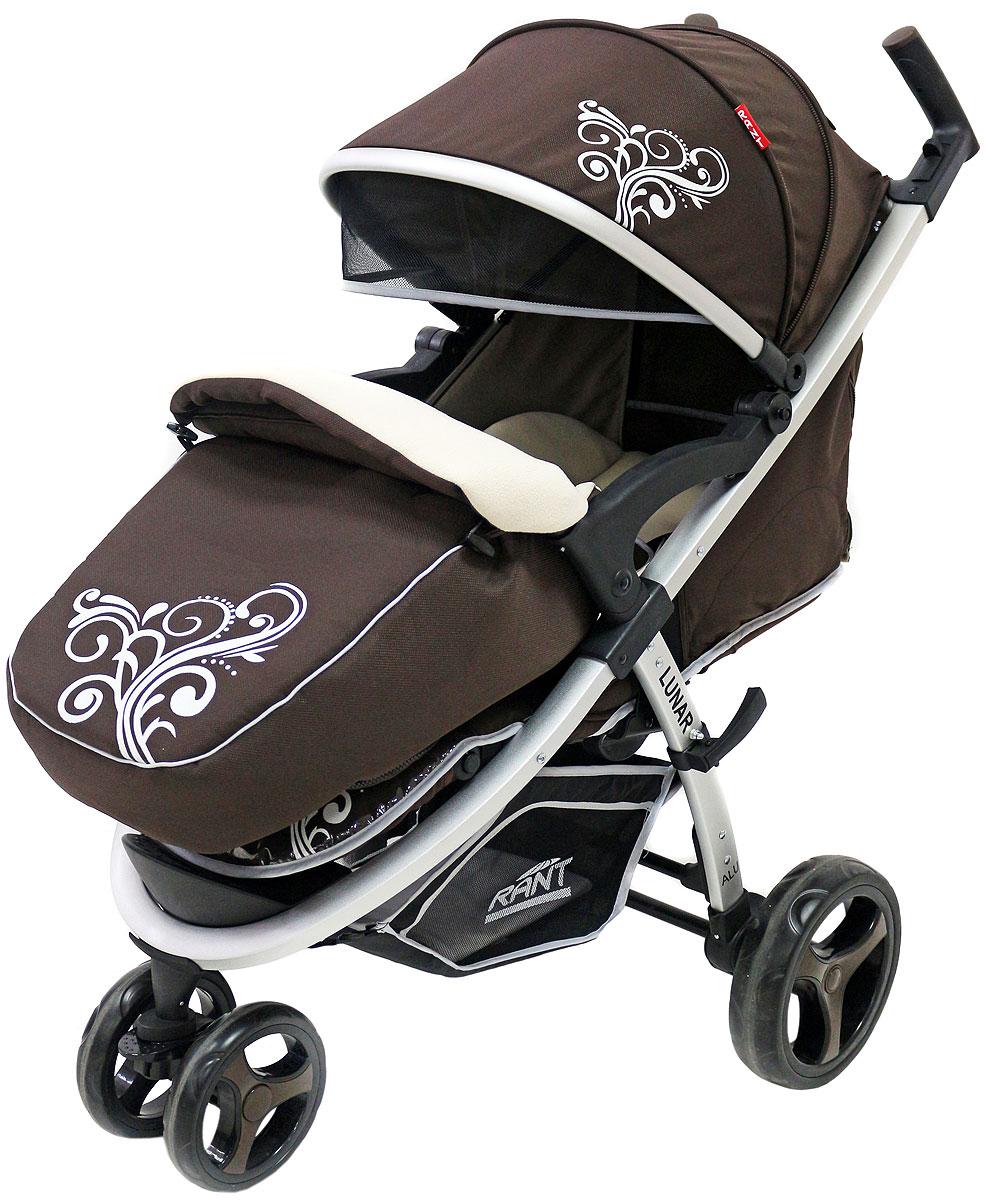 Rant Коляска прогулочная Lunar цвет коричневый4630008875131Трехколёсная прогулочная коляска LUNAR от торговой марки RANT – одна из самых популярных моделей, станет незаменимым помощником для родителей малышей от 6-ти месяцев до 3-х лет. Практичная, легкая и комфортная коляска выполнена в спортивном стиле. Модель представлена в нескольких цветовых решениях: фиолетовый, салатовый, бежевый, коричневый, черный. Прогулки с малышом будут приносить удовольствие и комфорт с коляской LUNAR . Благодаря тому, что спинка сиденья фиксируется в нескольких положениях, а наклон регулируется до горизонтального положения, Ваш малыш всегда примет удобную позу для сна и для прогулки. Сиденье дополнено мягким вкладышем, который сохранит тепло и комфорт малыша. Вкладыш оснащен дополнительной боковой поддержкой в области плеч и ног, что помогает фиксировать правильное положение спины и формировать осанку ребенка. Увеличенный складной капюшон коляски LUNAR защитит Вашего ребенка от солнца и ветра. Задняя стенка капюшона на молнии, легко снимается для...
