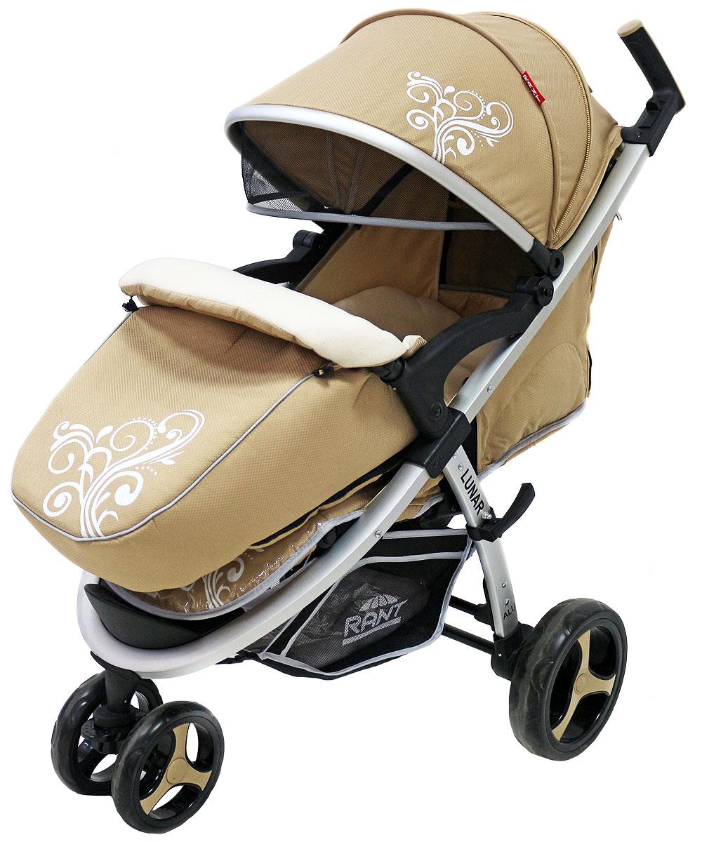 Rant Коляска прогулочная Lunar цвет бежевый4630008876893Трехколесная прогулочная коляска Rant Lunar - одна из самых популярных моделей, станет незаменимым помощником для малышей от шести месяцев до трех лет. Практичная, легкая и комфортная коляска выполнена в спортивном стиле. Прогулки с малышом будут приносить удовольствие и комфорт с данной коляской. Благодаря тому, что спинка сиденья фиксируется в нескольких положениях, а наклон регулируется до горизонтального положения, ваш малыш всегда примет удобную позу для сна и для прогулки. Сиденье дополнено мягким вкладышем, который сохранит тепло и комфорт малыша. Вкладыш оснащен дополнительной боковой поддержкой в области плеч и ног, что помогает фиксировать правильное положение спины и формировать осанку ребенка. Увеличенный складной капюшон коляски защитит вашего ребенка от солнца и ветра. Задняя стенка капюшона на молнии, легко снимается для проветривания. Для безопасности малыша предусмотрены пятиточечные ремни безопасности с мягкими накладками. Утепленная мягкая накидка на...