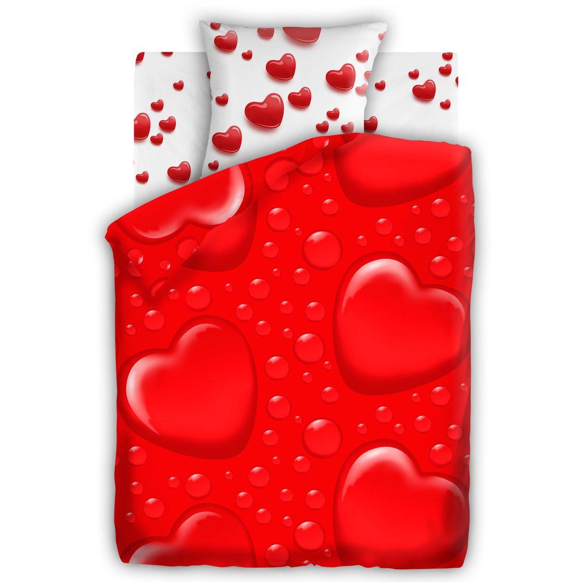 Комплект белья For YouСердца, 1,5 спальное, наволочки 70 х 70, цвет: красный. 284379284379Постельное белье торговой марки «Любимый дом» - это идеальное сочетание доступной цены и высокого качества продукции. Серия «Любимый дом 3D» выполнена в технике объемного трехмерного изображения: объемные рисунки очень яркие, насыщенные и реалистичные. Коллекция выполнена из традиционной отечественной бязи с высоким показателем износостойкости: такое постельное белье очень прочное и долговечное, не деформируется при стирках и прослужит долгие годы.