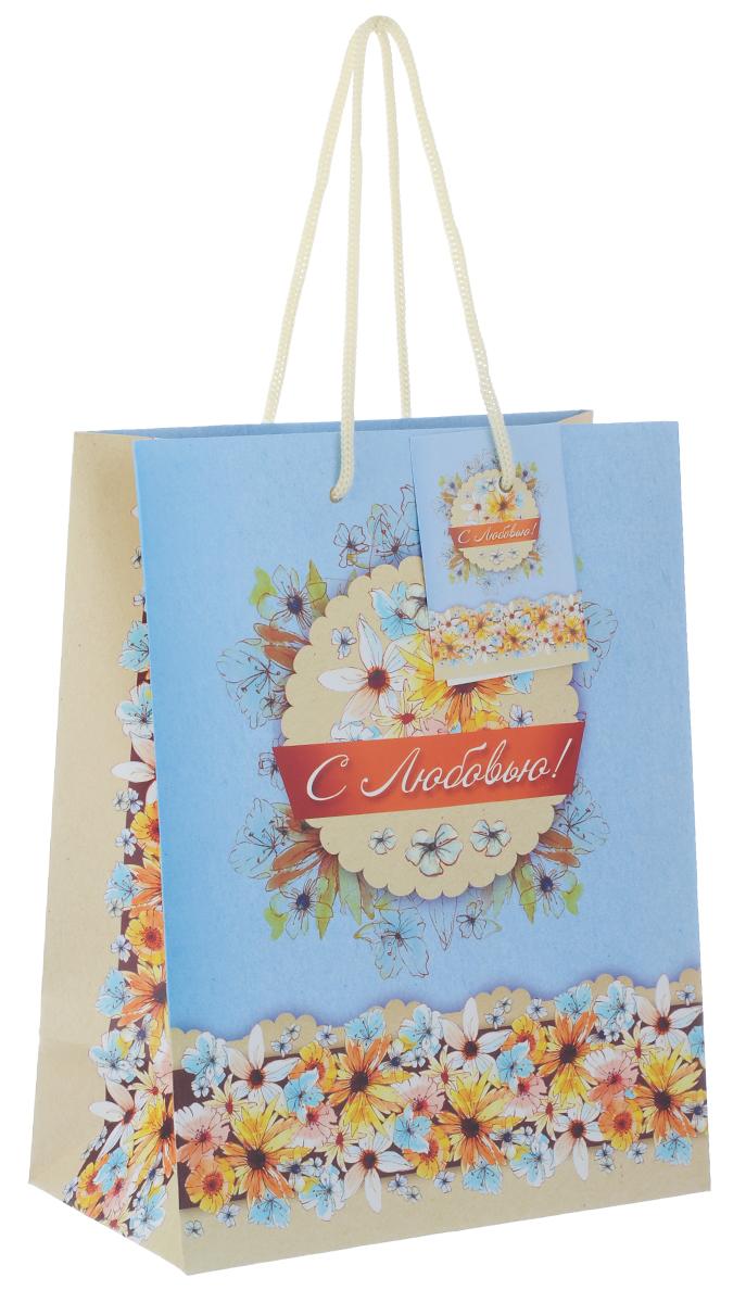 Пакет подарочный Феникс-Презент С любовью!, 17,8 х 9,8 х 22,9 см39646Подарочный пакет Феникс-презент С любовью!, изготовленный из плотной бумаги, станет незаменимым дополнением к выбранному подарку. Дно изделия укреплено картоном, который позволяет сохранить форму пакета и исключает возможность деформации дна под тяжестью подарка. Пакет выполнен с глянцевой ламинацией, что придает ему прочность, а изображению - яркость и насыщенность цветов. Для удобной переноски на пакете имеются две ручки из шнурков. Подарок, преподнесенный в оригинальной упаковке, всегда будет самым эффектным и запоминающимся. Окружите близких людей вниманием и заботой, вручив презент в нарядном, праздничном оформлении. Плотность бумаги: 140 г/м2.