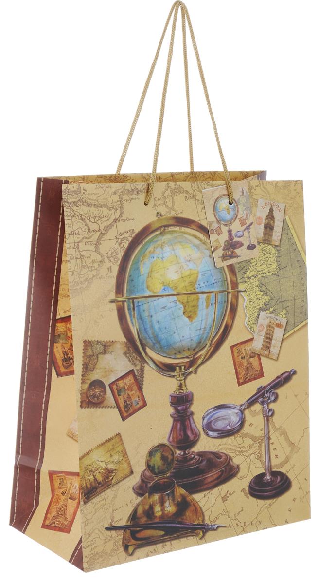 """Пакет подарочный Феникс-Презент """"Глобус"""", 26 х 12,7 х 32,4 см"""
