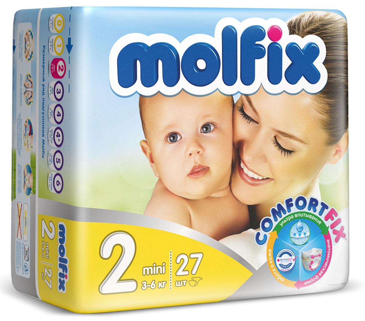 Molfix Подгузники Мини 3-6 кг 27 шт17026Новинка! Ни для кого не секрет, что каждая мама хочет обеспечить защиту и комфорт для своего малыша. Новые премиальные подгузники Molfix отвечают самым высоким стандартам качества категории и соответствуют ожиданиям даже самых взыскательных мам: они отлично впитывают, тонкие и эластичные, обеспечивают малышам надежную защиту, комфорт и хорошее настроение. Подгузники Molfix дерматологически протестированы и одобрены независимым исследовательским институтом Dermatest GmbH (Германия). Особенности: • Специальный ультра впитывающий слой обеспечивает быстрое впитывание; • Тонкая анатомическая структура для комфорта малыша; • Ультра эластичные боковинки обеспечивают свободу движений; • «Дышащий» внешний слой и ультра мягкий внутренний слой для заботы о коже малыша; • Защитные барьерчики обеспечивают защиту от протеканий. В каждой упаковке подгузников Molfix веселые и красочные дизайны на подгузниках!