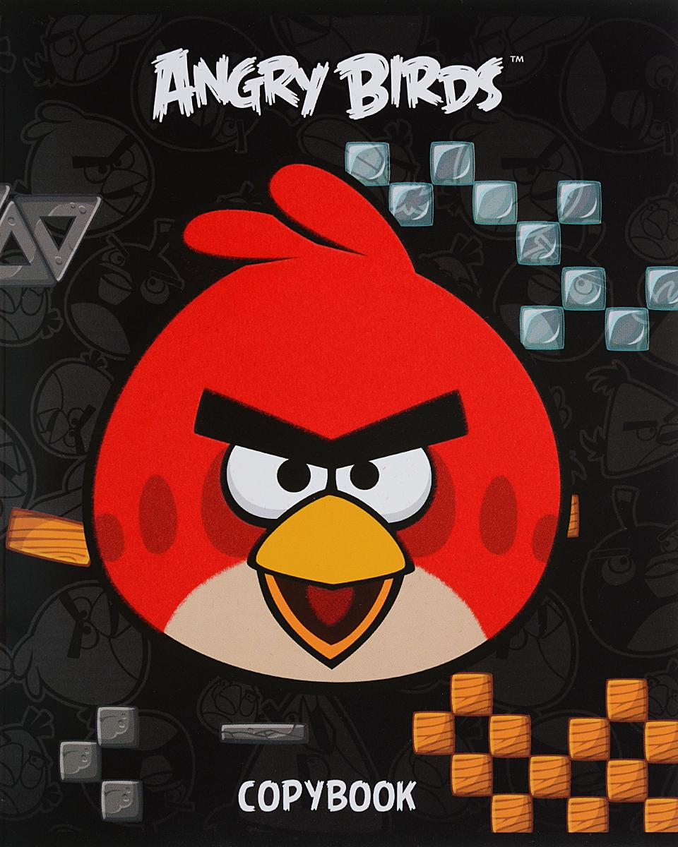 Hatber Тетрадь Angry Birds 48 листов в клетку цвет черный48Т5флB1_10402Тетрадь Hatber Angry Birds отлично подойдет для занятий школьнику или студенту. Обложка, выполненная из плотного картона, позволит сохранить тетрадь в аккуратном состоянии на протяжении всего времени использования. Изделие оформлено бархатистым изображением злой птички. Внутренний блок тетради, соединенный скрепками, состоит из 48 листов белой бумаги в голубую клетку с полями красного цвета.