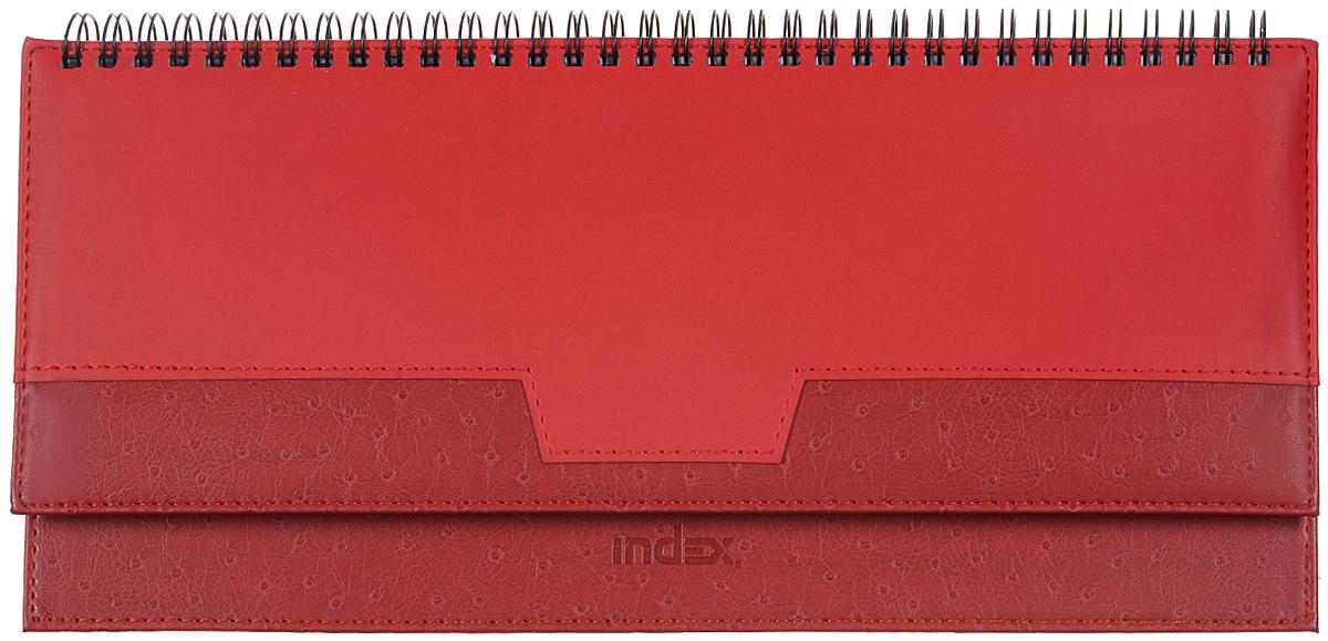 Index Планинг Desert недатированный 64 листа цвет красныйIPN105/RDНедатированный планинг Index Desert - это один из удобных способов систематизации всех предстоящих событий и незаменимый помощник для каждого. Обложка выполнена из качественной искусственной кожи, с прострочкой по периметру и поролоновой подкладкой на верхней части обложки. Внутренний блок изготовлен из высококачественной бумаги с плотными листами. Первая страница представляет собой анкету для личных данных владельца, на последующих расположена справочная информация - календари на 2016, 2017, 2018, 2019 гг., телефонные коды России, международные телефонные коды, размеры одежды и другая информация. Планинг надежно скреплен металлическим гребнем. Все планы и записи всегда будут у вас перед глазами, что позволит легко ориентироваться в графике дел, событий и встреч.