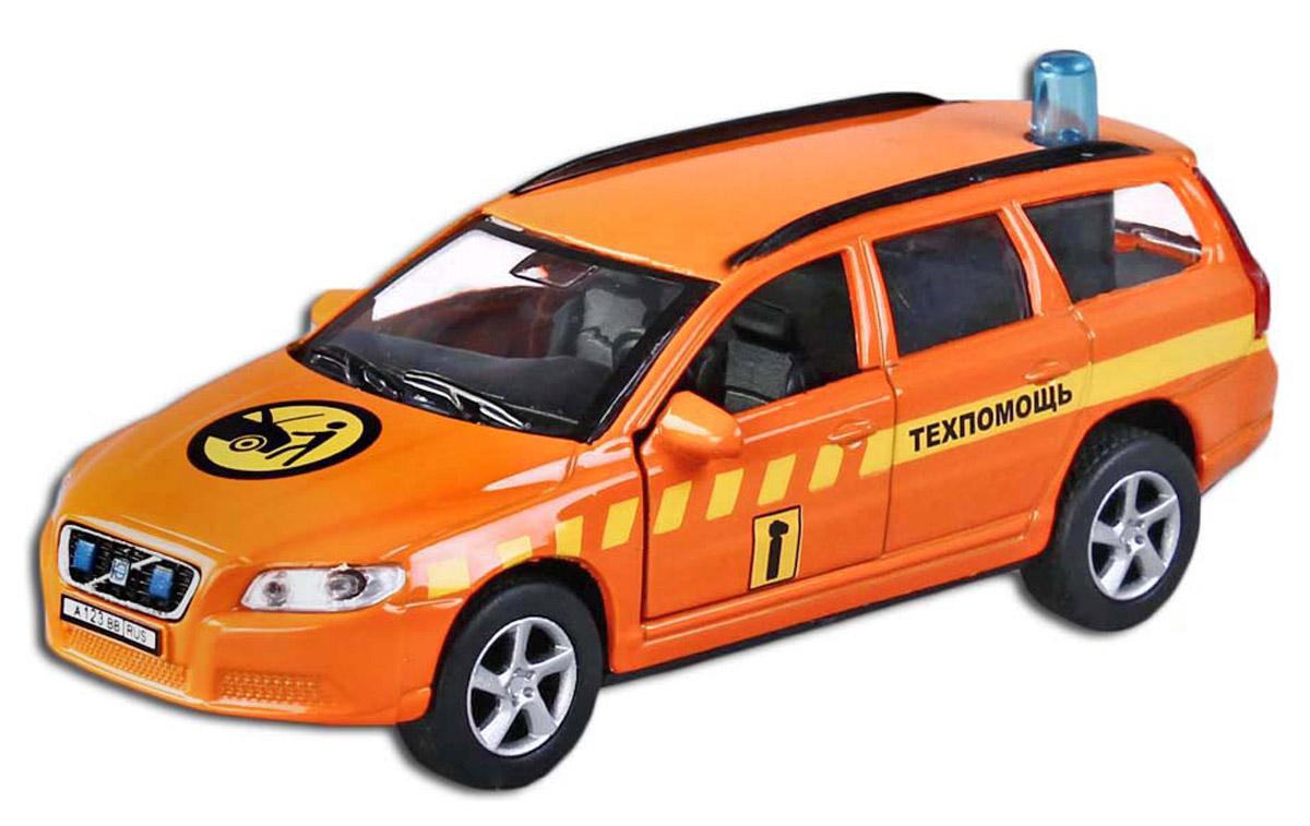 Пламенный мотор Машинка инерционная Volvo V70 Техпомощь87495Машина техпомощи выезжает на специальное задание! У автомобиля открываются двери, при нажатии на проблесковый маячок включаются световые и звуковые эффекты. Игрушка с инерционным механизмом: стоит только откатить машинку назад, а затем отпустить, и она поедет вперед. Игрушка выполнена в масштабе 1:43.