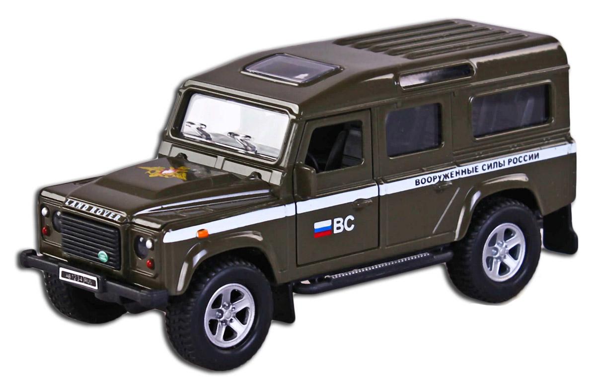 Пламенный мотор Машинка инерционная Land Rover ВС России87507Машинка инерционная Пламенный мотор Land Rover. ВС России представляет собой очень реалистичную модель служебной машины. Она повторяет оригинал даже в мельчайших деталях: у машины открываются дверцы, имеются стекла, кроме того она оснащена световыми и звуковыми эффектами и инерционным механизмом. Машинка разнообразит игры вашего ребенка, сделает их более реалистичными и увлекательными. Малыш сможет познакомиться с техникой Вооруженных Сил России. Выполнена из качественных материалов, которые не вредят здоровью ребенка. Масштаб 1:32. Рекомендуется докупить 3 батарейки типа LR41 (товар комплектуется демонстрационными).