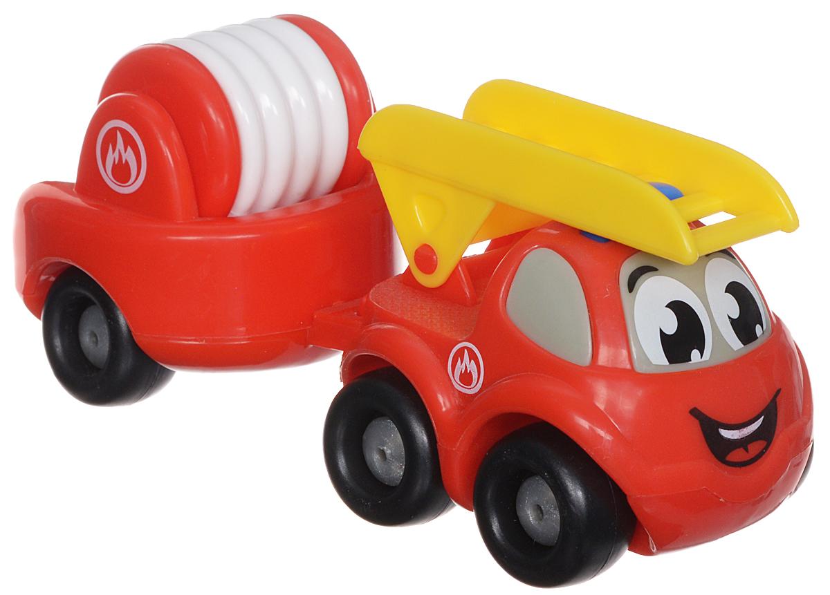 Smoby Пожарный мини-грузовик с прицепом и лестницей211262Пожарный мини-грузовик Smoby Vroom Planet непременно привлечет внимание вашего ребенка. Игрушка выполнена из абсолютно безопасного для малыша высококачественного пластика. К грузовичку прилагается съемный пожарный прицеп и лестница. Колеса машинки крутятся, поэтому она легко катается по ровной поверхности. Плавные формы без острых углов, яркие цвета и нарисованные глазки - все это выгодно выделяет эту игрушку из ряда подобных. Игра с яркой игрушкой помогает развивать мелкую моторику, цветовое восприятие, координацию движений, а также являются хорошим средством для развлечения ребенка. Порадуйте своего малыша таким замечательным подарком.