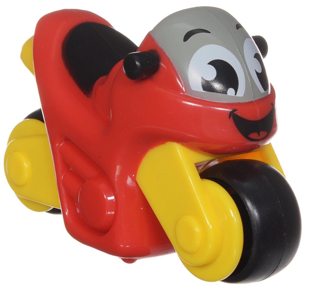 Smoby Мотоцикл Vroom Planet211280Мотоцикл Smoby Vroom Planet непременно привлечет внимание вашего ребенка. Игрушка выполнена из абсолютно безопасного для малыша высококачественного пластика. Игрушка яркой расцветки с большими колесами и нарисованными глазками и улыбкой. Колеса мотоцикла крутятся, поэтому он легко катается по ровной поверхности. Игра с яркой игрушкой помогает развивать мелкую моторику, цветовое восприятие, координацию движений, а также являются хорошим средством для развлечения ребенка. Порадуйте своего малыша таким замечательным подарком.