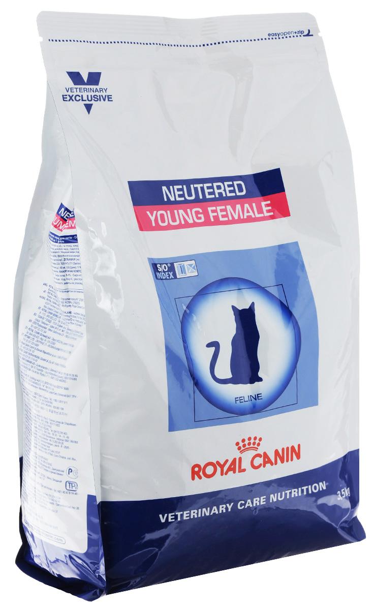 Корм сухой Royal Canin Young Female для стерилизованных кошек с момента операции до 7 лет, 3,5 кг33276Royal Canin Young Female - полнорационный сухой корм для стерилизованных кошек с повышенной чувствительностью кожи и шерсти. Оптимальный вес: - обогащенная белками формула способствует лучшему поддержанию мышечного тонуса по сравнению с обычным режимом питания, повышению вкусовых качеств корма. При одном и том же уровне метаболизма белки дают на 30% меньше чистой энергии, чем углеводы. L- карнитин улучшает транспорт жирных кислот в митохондрии. Разбавление мочи: - увеличение объема мочи одновременно снижает содержание в ней минеральных веществ, из которых формируются струвитные и оксалатные кристаллы. Таким образом, создаются условия, неблагоприятные для образования камней в мочевыводящих путях. Барьерная функция кожи: - комплекс, состоящий из ниацина, инозита, холина, гистидина и пантотеновой кислоты, уменьшает потерю жидкости через кожу и усиливает ее барьерную функцию. S/O Index : Знак S/O Index на упаковке означает,...