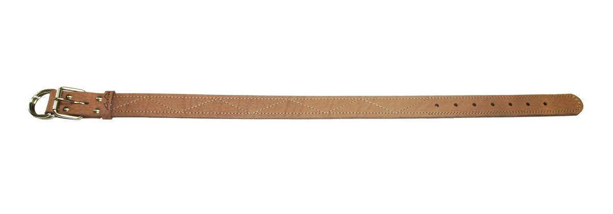 Ошейник Аркон Стандарт, цвет: бежевый, ширина 3,5 см, длина 77 смо35/3сОшейник Аркон Стандарт изготовлен из кожи, устойчивой к влажности и перепадам температур. Клеевой слой, сверхпрочные нити, крепкие металлические элементы делают ошейник надежными и долговечными. Изделие отличается высоким качеством, удобством и универсальностью. Размер ошейника регулируется при помощи пряжки, зафиксированной на одном из 7 отверстий. Минимальный обхват шеи: 50 см. Максимальный обхват шеи: 67 см. Ширина: 3,5 см.
