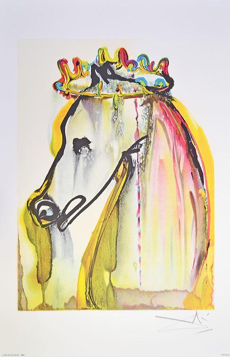 Литография Калигула. Сальвадор Дали. Серия Далинианские лощади (Les Chevaux de Dali). Франция, 1983 годАККААВеликолепная работа Сальвадора Дали из знаменитой серии Les Chevaux de Dali (Далинианские лошади)! ПРЕВОСХОДНАЯ ИДЕЯ ДЛЯ ПОДАРКА! Цветная литография Калигула (Le Cheval de Caligula), 1983 год. Автор - Сальвадор Дали (1904-1989), испанский художник, один из самых известных представителей сюрреализма. Размер листа 36,5 х 56 см. Размер мотива 30 х 40 см. Сохранность коллекционная. Лист № 7 из серии Les Chevaux de Dali (Далинианские лошади). В правом нижнем углу подпись автора на доске, ниже название работы. В левом нижнем углу - тисненый штамп издателя - Georges Israel Editeur, год издания и знак S.P.A.D.E.M. (S.P.A.D.E.M. - Societe de la Propriete Artistique et des Dessins et Modules - это официальная организация, занимающаяся защитой авторских прав художников и их наследников. Знак S.P.A.D.E.M. является подтверждением законности тиражирования того или иного произведения искусства). Бумага Arches.