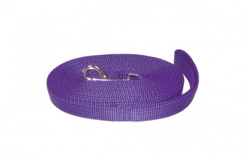 Поводок капроновый для собак Аркон, цвет: фиолетовый, ширина 1,5 см, длина 3 мпк3м15Поводок для собак Аркон изготовлен из высококачественного цветного капрона и снабжен металлическим карабином. Изделие отличается не только исключительной надежностью и удобством, но и привлекательным современным дизайном. Поводок - необходимый аксессуар для собаки. Ведь в опасных ситуациях именно он способен спасти жизнь вашему любимому питомцу. Иногда нужно ограничивать свободу своего четвероногого друга, чтобы защитить его или себя от неприятностей на прогулке. Длина поводка: 3 м. Ширина поводка: 1,5 см.