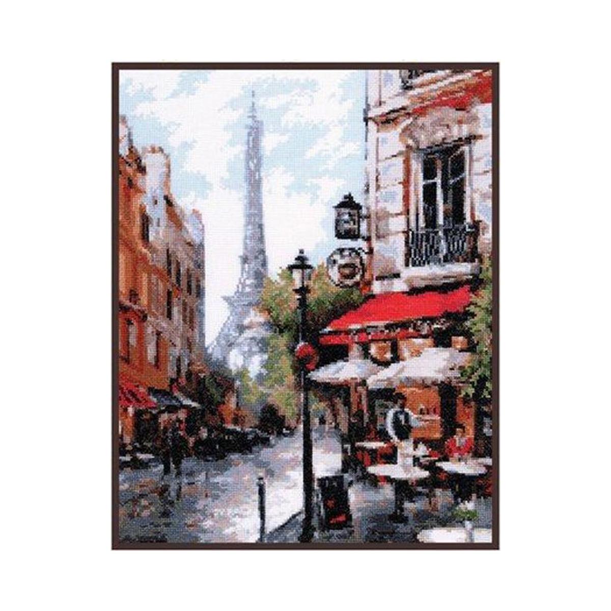Набор для вышивания крестом Палитра Парижское кафе, 26 x 33 см485489Набор для вышивания Палитра Парижское кафе поможет создать красивую вышитую картину. Рисунок-вышивка, выполненный на канве, выглядит стильно и модно. Вышивание отвлечет вас от повседневных забот и превратится в увлекательное занятие! Работа, сделанная своими руками, не только украсит интерьер дома, придав ему уют и оригинальность, но и будет отличным подарком для друзей и близких! Набор для вышивания содержит все необходимые материалы для вышивки на канве в технике счетный крест. В состав набора входит: - канва Aida Bestex №16 белого цвета, - нитки мулине ПНК им. Кирова - 26 цветов, - игла Pony, - цветная символьная схема, - подробная инструкция на русском языке. Размер канвы: 44 х 39,5 см. УВАЖАЕМЫЕ КЛИЕНТЫ! Обращаем ваше внимание, на тот факт, что рамка в комплект не входит, а служит для визуального восприятия товара.