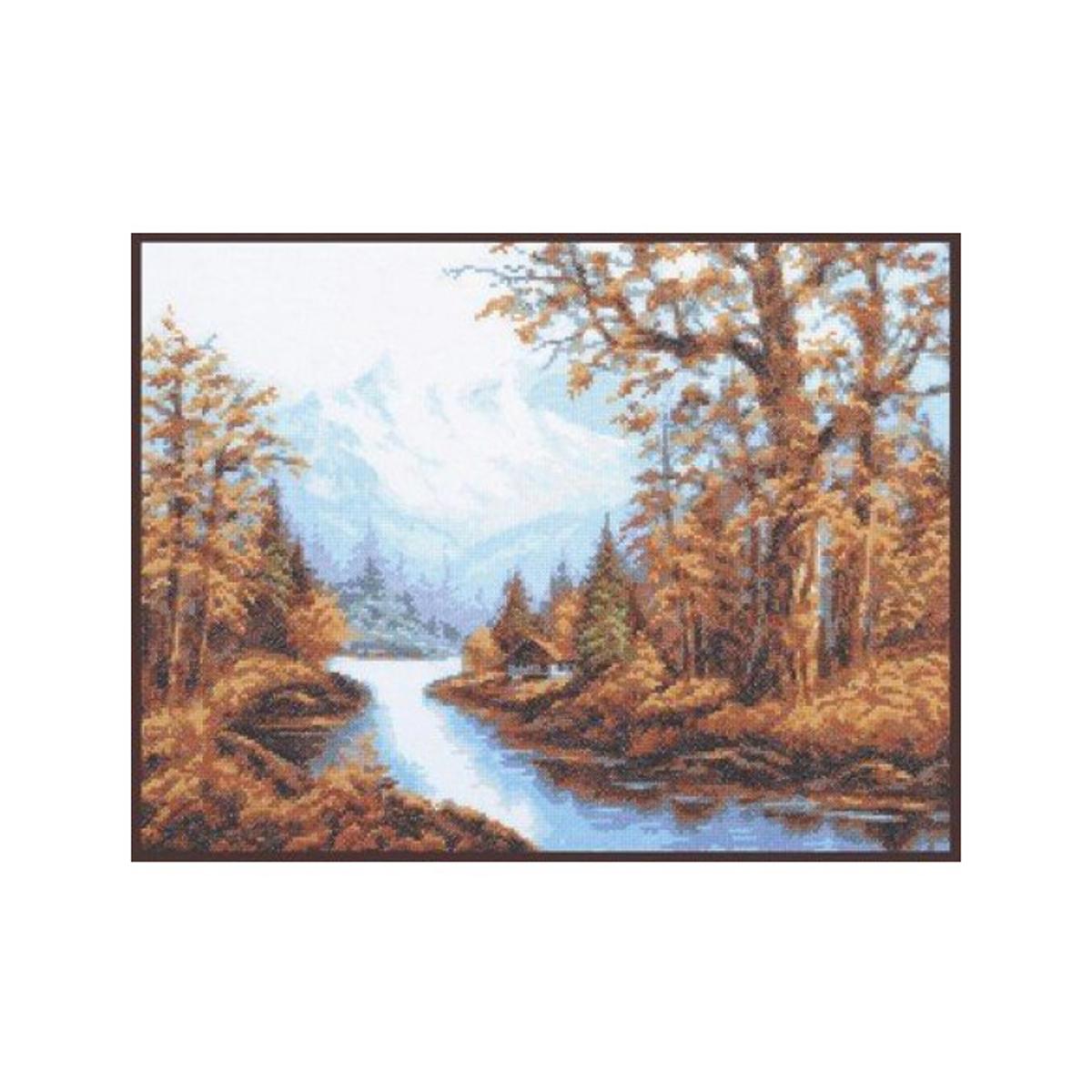 Набор для вышивания крестом Палитра Пейзаж с горами, 36 x 27 см488053Набор для вышивания Палитра Пейзаж с горами поможет создать красивую вышитую картину. Рисунок-вышивка, выполненный на канве, выглядит стильно и модно. Вышивание отвлечет вас от повседневных забот и превратится в увлекательное занятие! Работа, сделанная своими руками, не только украсит интерьер дома, придав ему уют и оригинальность, но и будет отличным подарком для друзей и близких! Набор для вышивания содержит все необходимые материалы для вышивки на канве в технике счетный крест. В состав набора входит: - канва Aida Bestex №16 белого цвета, - нитки мулине ПНК им. Кирова - 17 цветов, - игла Pony, - цветная символьная схема, - подробная инструкция на русском языке. Размер канвы: 48 х 38 см. УВАЖАЕМЫЕ КЛИЕНТЫ! Обращаем ваше внимание, на тот факт, что рамка в комплект не входит, а служит для визуального восприятия товара.