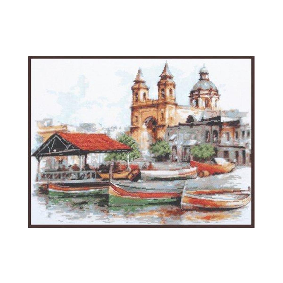 Набор для вышивания крестом Палитра Мальта, 39 x 30 см488054Набор для вышивания Палитра Мальта поможет создать красивую вышитую картину. Рисунок-вышивка, выполненный на канве, выглядит стильно и модно. Вышивание отвлечет вас от повседневных забот и превратится в увлекательное занятие! Работа, сделанная своими руками, не только украсит интерьер дома, придав ему уют и оригинальность, но и будет отличным подарком для друзей и близких! Набор для вышивания содержит все необходимые материалы для вышивки на канве в технике счетный крест. В состав набора входит: - канва Aida Bestex №14 белого цвета, - нитки мулине ПНК им. Кирова - 24 цветов, - игла Pony, - цветная символьная схема, - подробная инструкция на русском языке. Размер канвы: 51 х 41 см. УВАЖАЕМЫЕ КЛИЕНТЫ! Обращаем ваше внимание, на тот факт, что рамка в комплект не входит, а служит для визуального восприятия товара.
