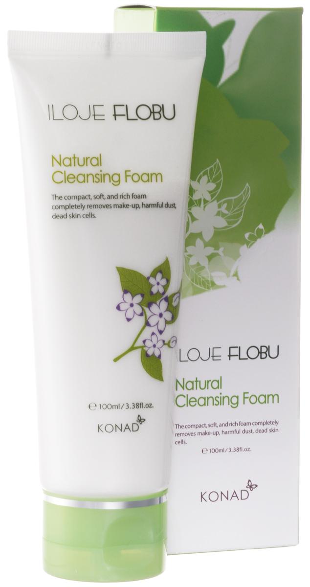 Konad Натуральная очищающая пена для лица iloje Flobu Natural Foam Cleansing, 100 мл