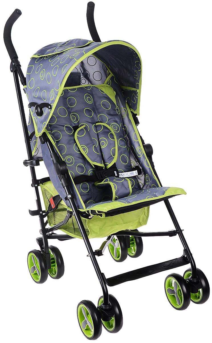 Melogo Детская коляска с ремнем для переноски цвет серый зеленый305B/GДетская коляска Melogo с ремнем для переноски - это превосходное сочетание бесподобного дизайна и высоких качественных характеристик, в такой коляске малышу будет максимально удобно и комфортно. Коляска имеет 4 сдвоенных колеса. Задние колеса оснащены фиксатором, блокирующим колеса при остановке. Складывающийся козырек от солнца, пятиточечный ремень безопасности, подставка для ножек, мягкие удобные ручки, карман для принадлежностей, корзина для вещей и покупок, пластиковое окно в куполе коляски, ремень для переноски сделают использование коляски максимально комфортным как для малыша, так и для родителей. Коляска предназначена для детей в возрасте 6-36 месяцев и весом не более 15 кг.
