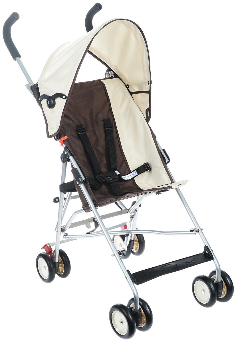 Melogo Детская коляска с ремнем для переноски цвет бежевый коричневый201H/BДетская коляска Melogo с ремнем для переноски - это превосходное сочетание бесподобного дизайна и высоких качественных характеристик, в такой коляске малышу будет максимально удобно и комфортно. Коляска имеет 4 сдвоенных колеса. Задние колеса оснащены фиксатором, блокирующим колеса при остановке. Складывающийся козырек от солнца, пятиточечный ремень безопасности, подставка для ножек, мягкие удобные ручки, ремень для переноски сделают использование коляски максимально комфортным как для малыша, так и для родителей. Коляска предназначена для детей в возрасте 6-36 месяцев и весом не более 15 кг.