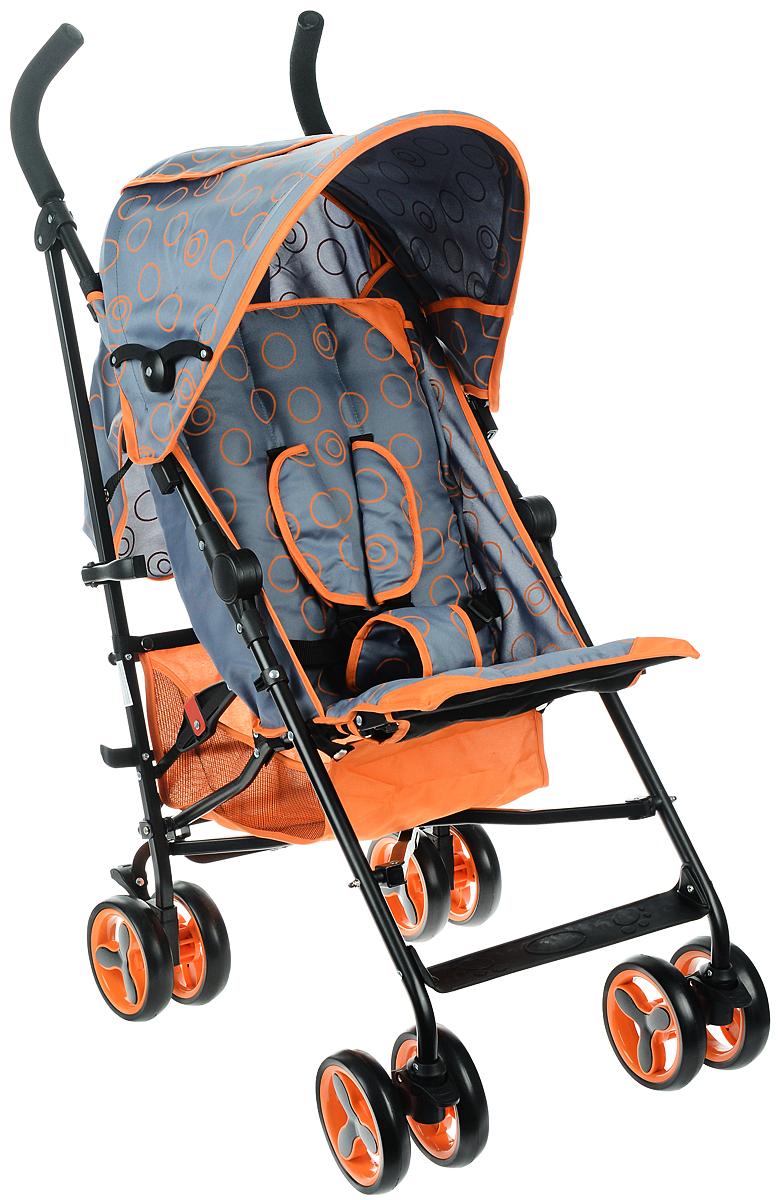 Melogo Детская коляска цвет черный оранжевый
