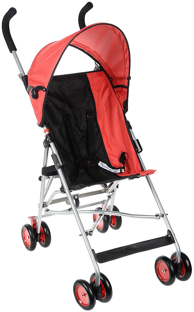 Melogo Детская коляска цвет красный коричневый201H/RДетская коляска Melogo с ремнем для переноски - это превосходное сочетание бесподобного дизайна и высоких качественных характеристик, в такой коляске малышу будет максимально удобно и комфортно. Коляска имеет 4 сдвоенных колеса. Задние колеса оснащены фиксатором, блокирующим колеса при остановке. Складывающийся козырек от солнца, пятиточечный ремень безопасности, подставка для ножек, мягкие удобные ручки, ремень для переноски сделают использование коляски максимально комфортным как для малыша, так и для родителей. Коляска предназначена для детей в возрасте 6-36 месяцев и весом не более 15 кг.