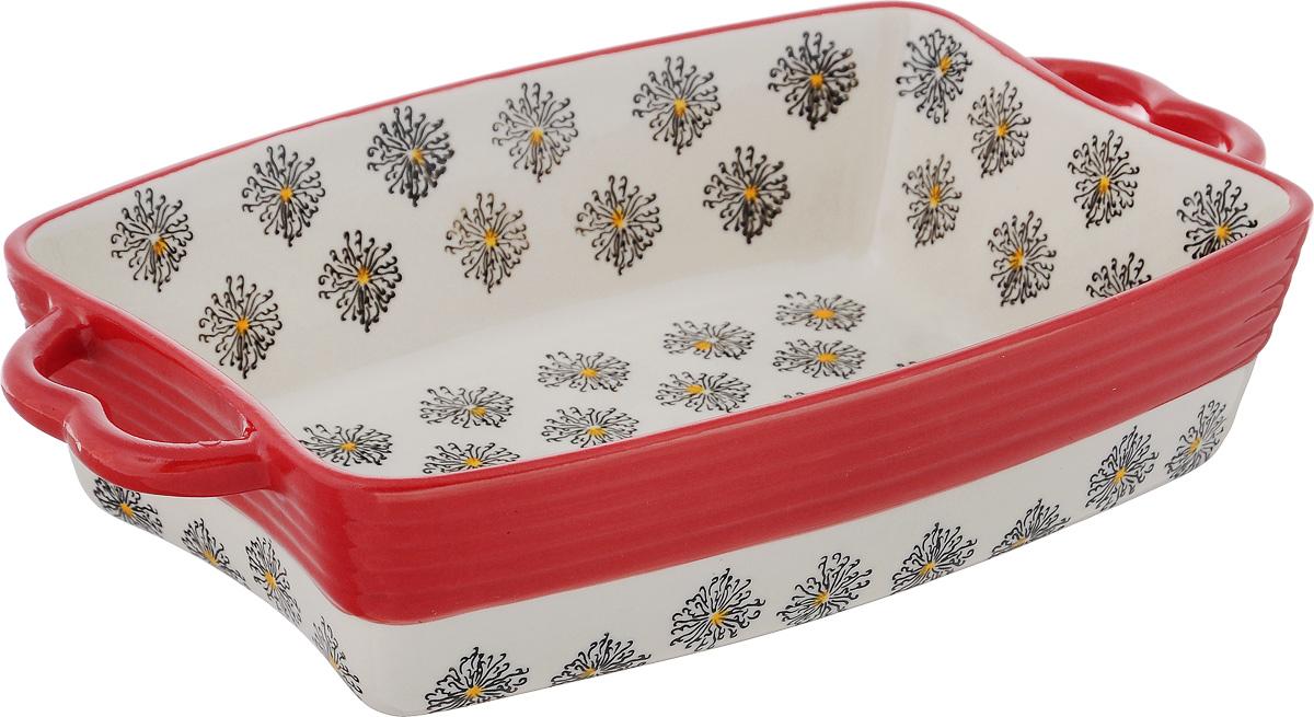 Форма для запекания Viconte, прямоугольная, керамическая, цвет: красный, слоновая кость, 1,6 лVC-1003Прямоугольная форма Viconte, выполненная из высококачественной жаропрочной керамики, оснащена двумя удобными ручками. Стильный дизайн и яркий рисунок делают это изделие прекрасным украшением на любой кухне. С формой для запекания Viconte процесс приготовления любого блюда станет простым и быстрым. Подходит для использования в духовом шкафу и СВЧ печи. Выдерживает температуру до 230°C. Можно мыть в посудомоечной машине. С такой формой вы всегда сможете порадовать своих близких оригинальной выпечкой. Размер формы (с учетом ручек): 28 х 16,8 см. Размер формы (без учета ручек): 23 х 16,8 см. Высота стенок: 6,2 см.