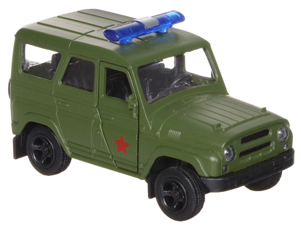 ТехноПарк Модель автомобиля УАЗ Hunter Военная полицияX600-H09014-RМодель автомобиля ТехноПарк УАЗ Hunter: Военная полиция, выполненная из металла, пластика и резины, станет любимой игрушкой вашего малыша. Игрушка представляет собой модель автомобиля военной полиции УАЗ Hunter в масштабе 1:50. Передние дверцы модели открываются, а прорезиненные колеса обеспечивают надежное сцепление с любой поверхностью пола. Модель оснащена инерционным ходом: достаточно немного отвести ее назад, а затем отпустить - машинка быстро поедет вперед. Ваш ребенок будет часами играть с этой машинкой, придумывая различные истории. Порадуйте его таким замечательным подарком!