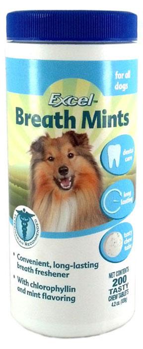 Таблетки для собак 8 in 1 Dental breath mint tin, для освежения дыхания, 200 шт1017233Дурной запах изо рта Вашего питомца может служить признаком проблем со стороны желудочно-кишечного тракта и многих других заболеваний. В этой ситуации мы рекомендуем обязательно обратиться к ветеринарному врачу. Для уменьшения запаха из пасти собак могут применяться приятные по вкусу таблетки Dental Breath, позволяющие при ежедневном употреблении, уменьшить образование зубного камня, нейтрализовать неприятный запах из пасти и надолго сохранить свежесть дыхания.