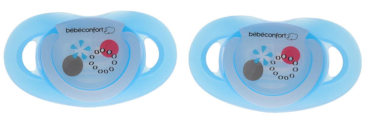 Bebe Confort Пустышка Safe от 0 до 12 месяцев размер Т1 цвет голубой 2 шт