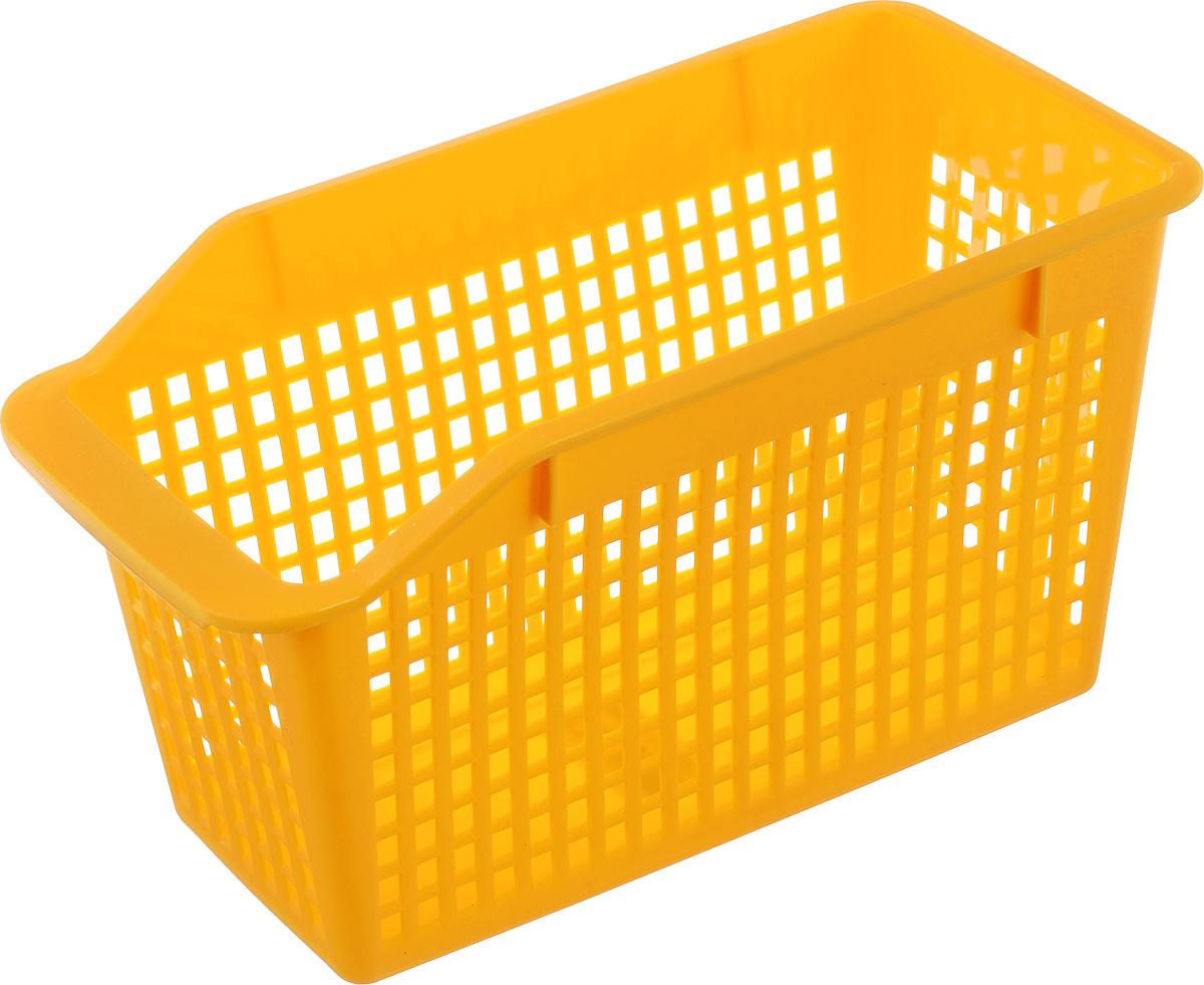 Корзинка Sima-land Трамплин, цвет: желтый, 31 х 15 х 17,5 см185006_желтыйКорзинка Sima-land Трамплин, изготовленная из высококачественного прочного пластика, предназначена для хранения мелочей в ванной, на кухне, даче или гараже. Изделие оснащено удобной ручкой. Это легкая корзина со сплошным дном, жесткой кромкой и небольшими отверстиями позволяет хранить мелкие вещи, исключая возможность их потери.
