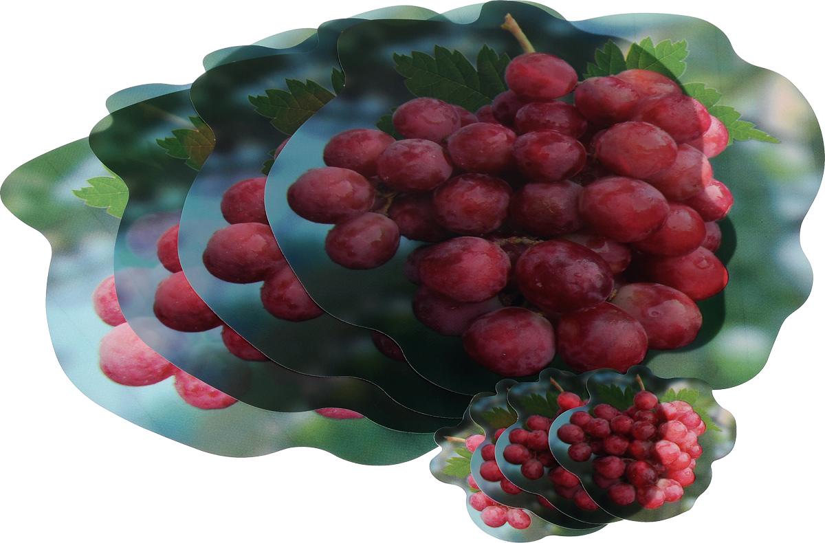Набор термосалфеток Home Queen Виноград, 8 шт58576_ виноградНабор Home Queen Виноград, изготовленный из полипропилена, состоит из 8 фигурных термосалфеток на нетканой основе размером 33 х 33 см (4 шт) и 10 х 9,5 см (4 шт). Такие салфетки красиво сервируют стол, защищают его поверхность от влаги и грязи. Могут использоваться в качестве подставки под вазы, кухонные приборы, в качестве коврика для кухонного шкафчика. Просты в уходе. Размер салфеток: 33 х 33 см; 10 х 9,5 см.