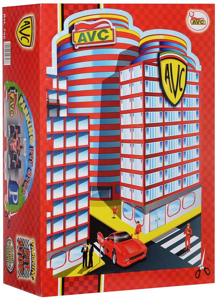 AVC Игровая парковка 4 уровня 01/74601/746Игровой набор AVC Парковка обязательно понравится вашему ребенку и не позволит ему скучать. В комплект входят элементы для сборки парковки и дороги, наклейки для декорирования, а также 2 машинки и вертолет. Игровая парковка с малым автотреком состоит из 4 платформ. Для подъема на верхние этажи парковка оснащена лифтом с ручной лебедкой, для спуска предусмотрены круговые эстакады. Также, парковка включает в себя автосервис и мойку с двумя крутящимися поролоновыми валиками, заправку со шлангом и пистолетом. Вокруг парковки располагается сборная дорога для машин, оформленная реалистичной разметкой. Ваш ребенок часами будет играть с набором, придумывая различные истории и устраивая соревнования. Порадуйте его таким замечательным подарком!