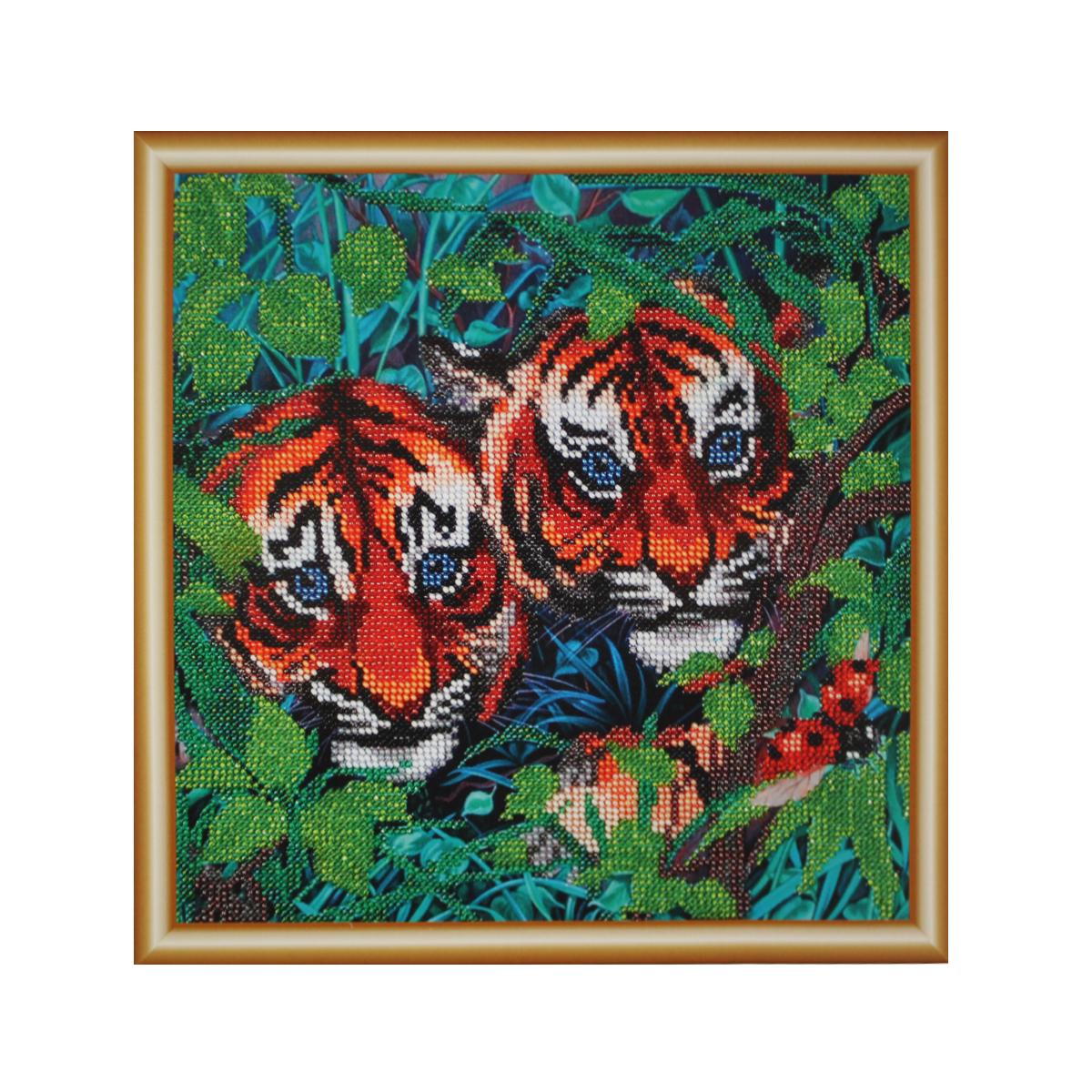 Набор для вышивания бисером Hobby & Pro Юные охотники, 25 x 25 см484108