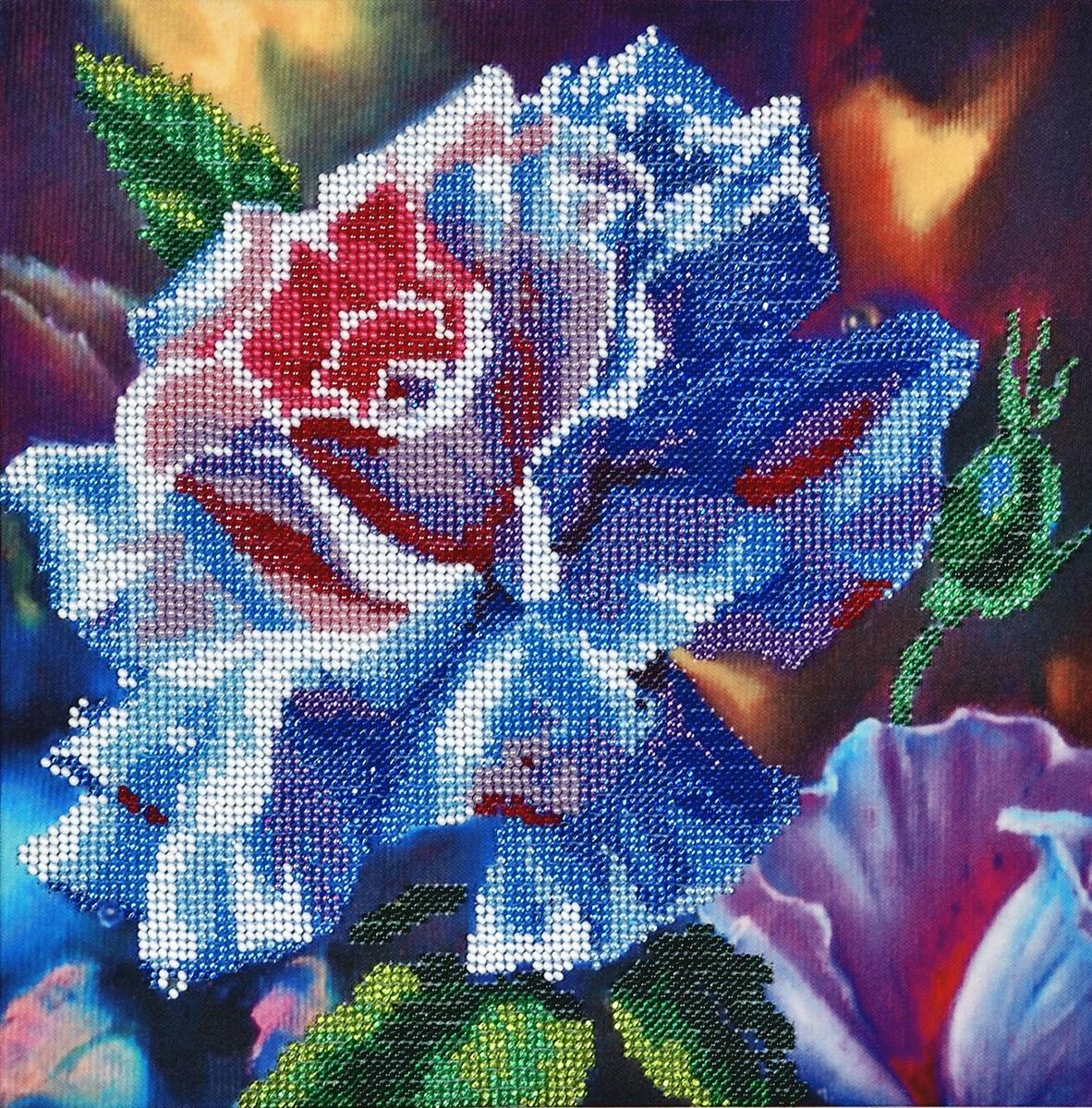 Набор для вышивания бисером Hobby & Pro Волшеая роза, 25 x 25 см484255