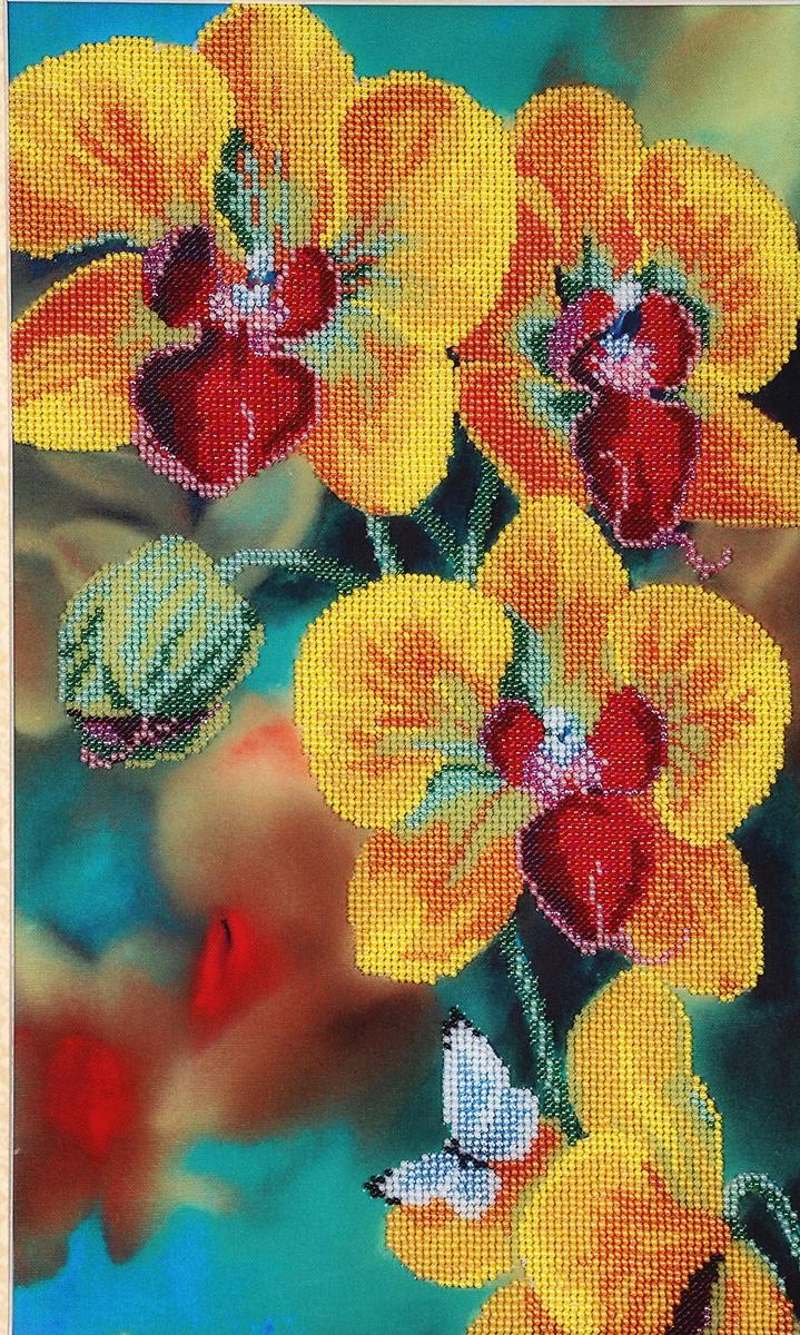 Набор для вышивания бисером Hobby&Pro Желтая орхидея, 24 x 40 см484321Набор для вышивания бисером Hobby&Pro Желтая орхидея поможет вам создать свой личный шедевр - красивую картину, частично вышитую бисером по цветному фону. Работа, выполненная своими руками, станет отличным подарком для друзей и близких! Набор содержит: - ткань с нанесенным цветным рисунком (размер ткани 54 х 35,5 см), - бисер Preciosa Ornela (Чехия) - 15 цветов, - игла для бисера, - инструкция на русском языке.