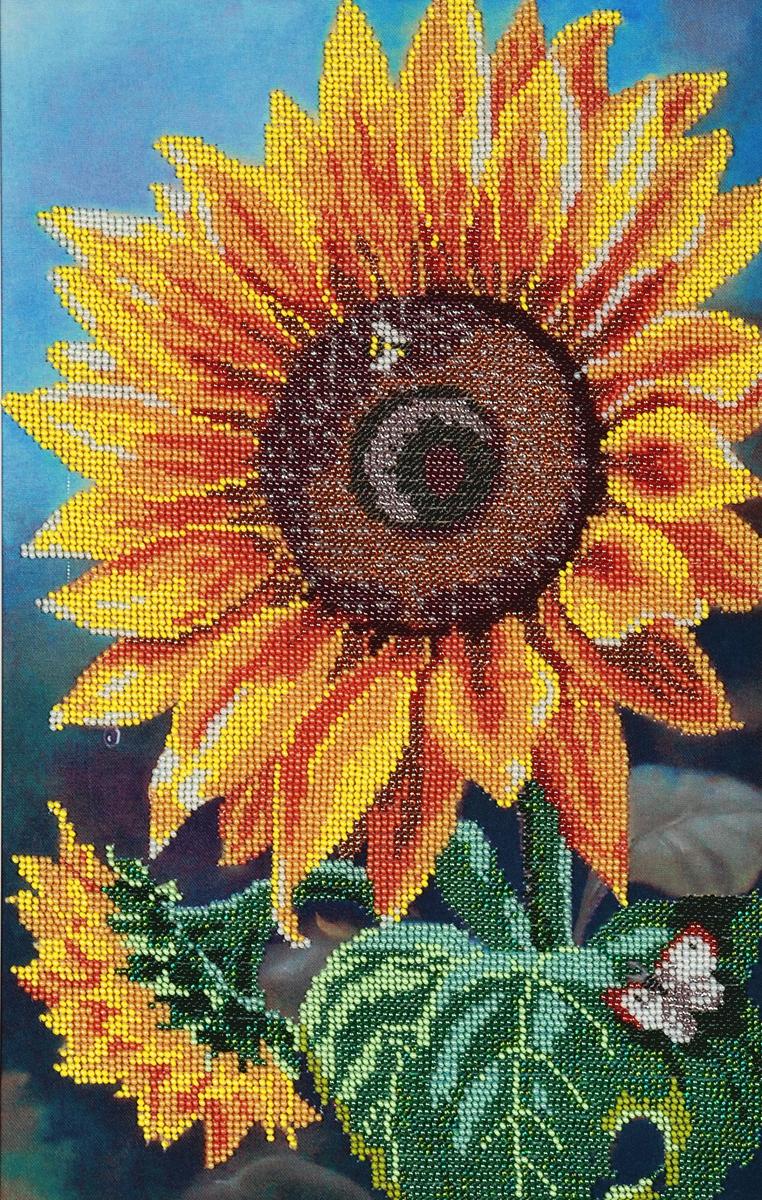 Набор для вышивания бисером Hobby & Pro Цветок солнца, 25 x 39 см484322