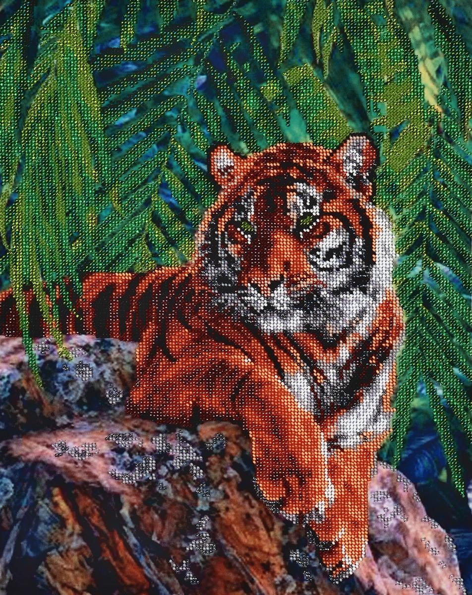 Набор для вышивания бисером Hobby & Pro Тигр, 31 x 40 см486606