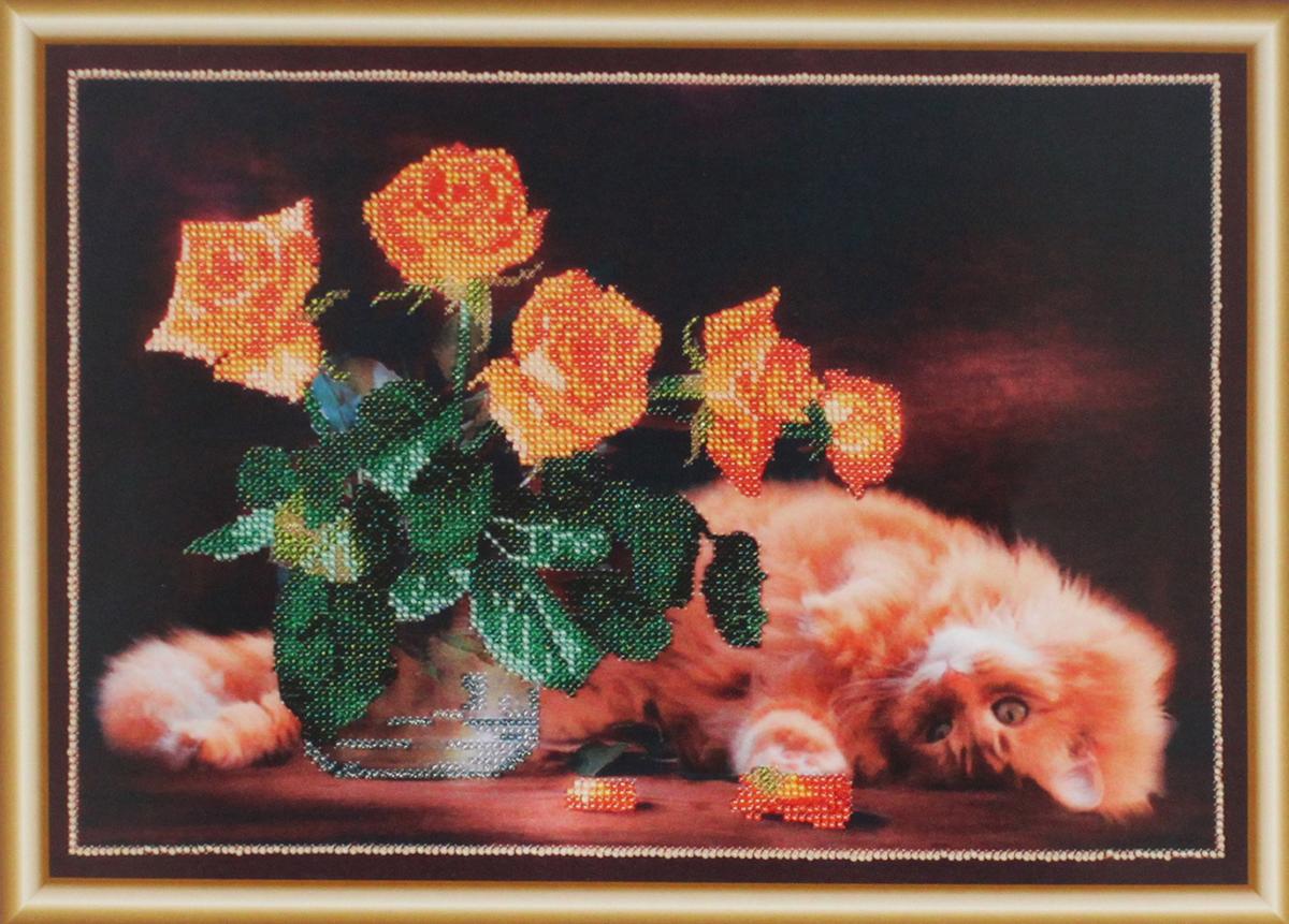 Набор для вышивания бисером Hobby & Pro Шалунишка, 35 x 25 см486828