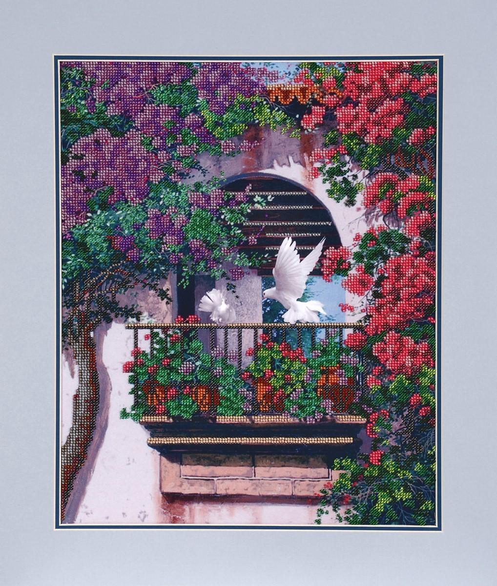 Набор для вышивания бисером Hobby&Pro Балкончик, 30 x 37 см486927Набор для вышивания бисером Hobby&Pro Балкончик поможет вам создать свой личный шедевр - красивую картину, частично вышитую бисером по цветному фону. Работа, выполненная своими руками, станет отличным подарком для друзей и близких! Набор содержит: - ткань с нанесенным цветным рисунком (размер ткани 41,5 х 52 см), - бисер Preciosa Ornela (Чехия) - 17 цветов, - игла для бисера, - инструкция на русском языке. УВАЖАЕМЫЕ КЛИЕНТЫ! Обращаем ваше внимание, на тот факт, что рамка в комплект не входит, а служит для визуального восприятия товара.