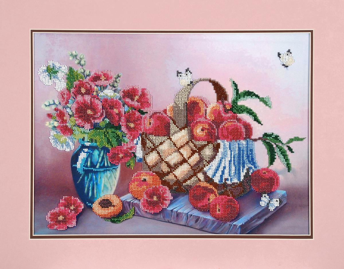 Набор для вышивания бисером Hobby & Pro В персиковых тонах,58 x 53 см486994