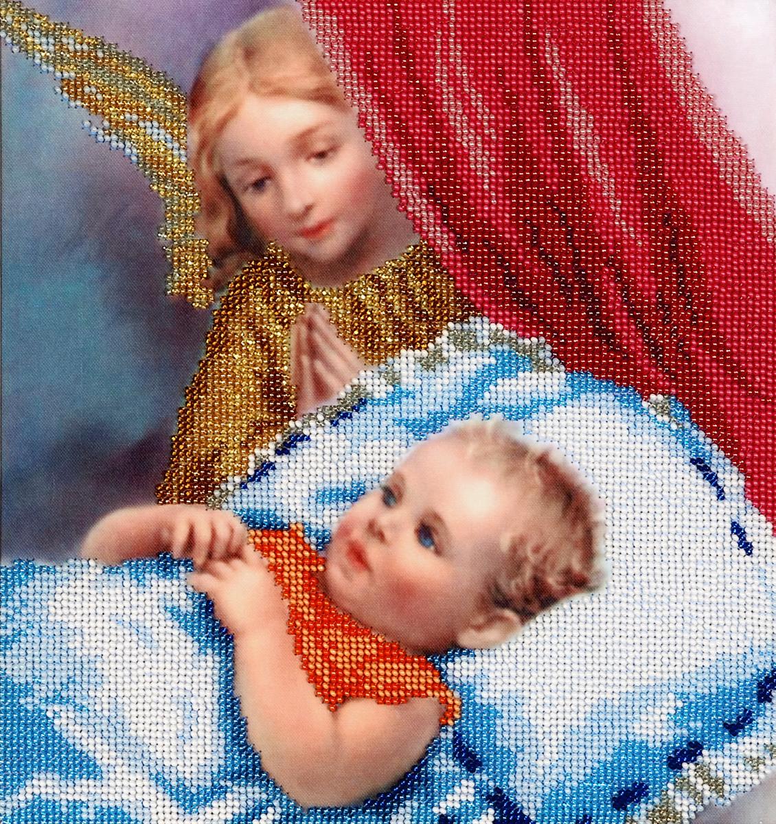 Набор для вышивания бисером Hobby & Pro Ангел Хранитель, 26 x 25 см581648