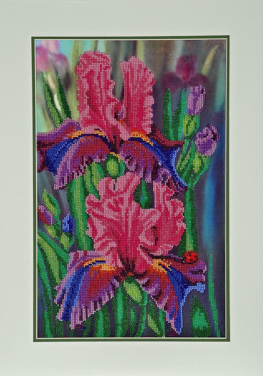 Набор для вышивания бисером Hobby & Pro Ирисы, 25 x 40 см581867