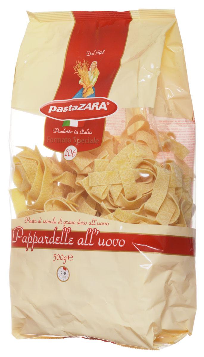 Pasta Zara Клубки яичные широкие паппарделле макароны, 500 г8004350231062Макаронные изделия Pasta Zara — одна из самых популярных марок итальянских макаронных изделий в России. Продукция под торговой маркой Pasta Zara сочетает в себе современность технологий производства и традиционное итальянское качество.