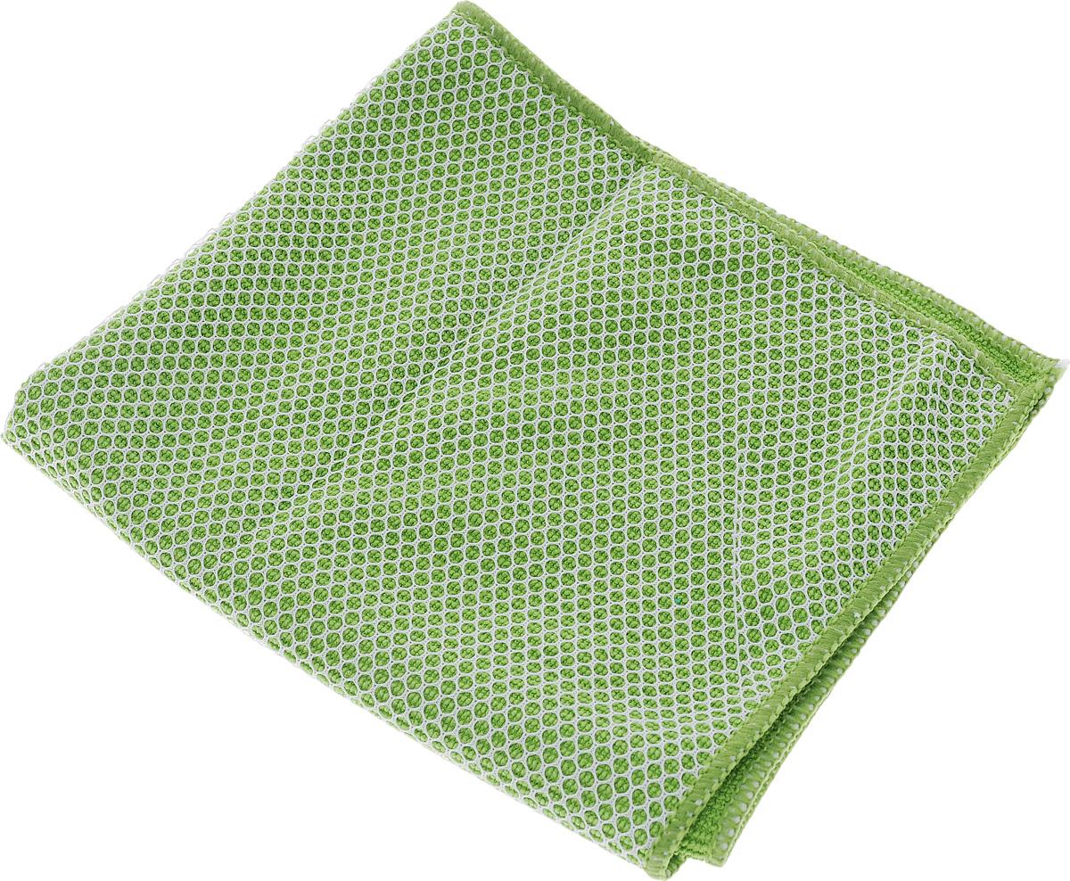 Салфетка для мытья и полировки автомобиля Sapfire Netting Cloth, цвет: зеленый, 35 х 35 смSFM-3002_зелёныйСалфетка Sapfire Netting Cloth выполнена из высококачественного полиэстера и полиамида. С одной стороны салфетка покрыта сеткой. Благодаря своей сетчатой структуре она эффективно удаляет с твердых поверхностей грязь, следы засохших насекомых. Микрофибровое полотно удаляет грязь с поверхности намного эффективнее, быстрее и значительно более бережно в сравнении с обычной тканью, что существенно снижает время на проведение уборки, поскольку отсутствует необходимость протирать одно и то же место дважды. Использовать салфетку можно для чистки как наружных, так и внутренних поверхностей автомобиля. Используя подобную мягкую ткань, можно проникнуть даже в самые труднодоступные места и эффективно очистить от пыли и бактерий все поверхности. Микрофибра устойчива к истиранию, ее можно быстро вернуть к первоначальному виду с помощью машинной стирки при малом количестве моющих средств. Приобретая микрофибровые изделия для чистки ...