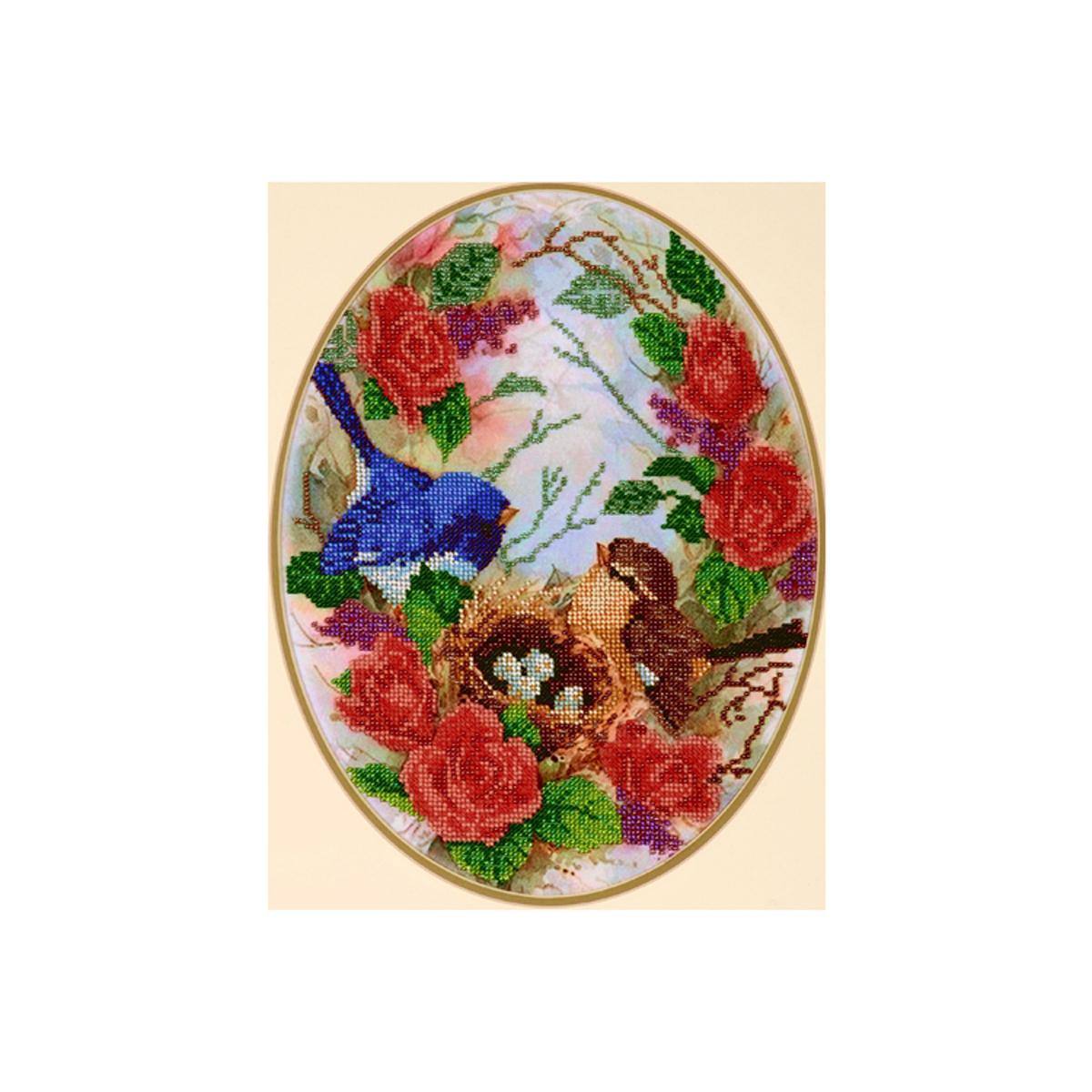Канва для вышивания бисером Hobby&Pro Гнездышко, 25 x 34 см486679