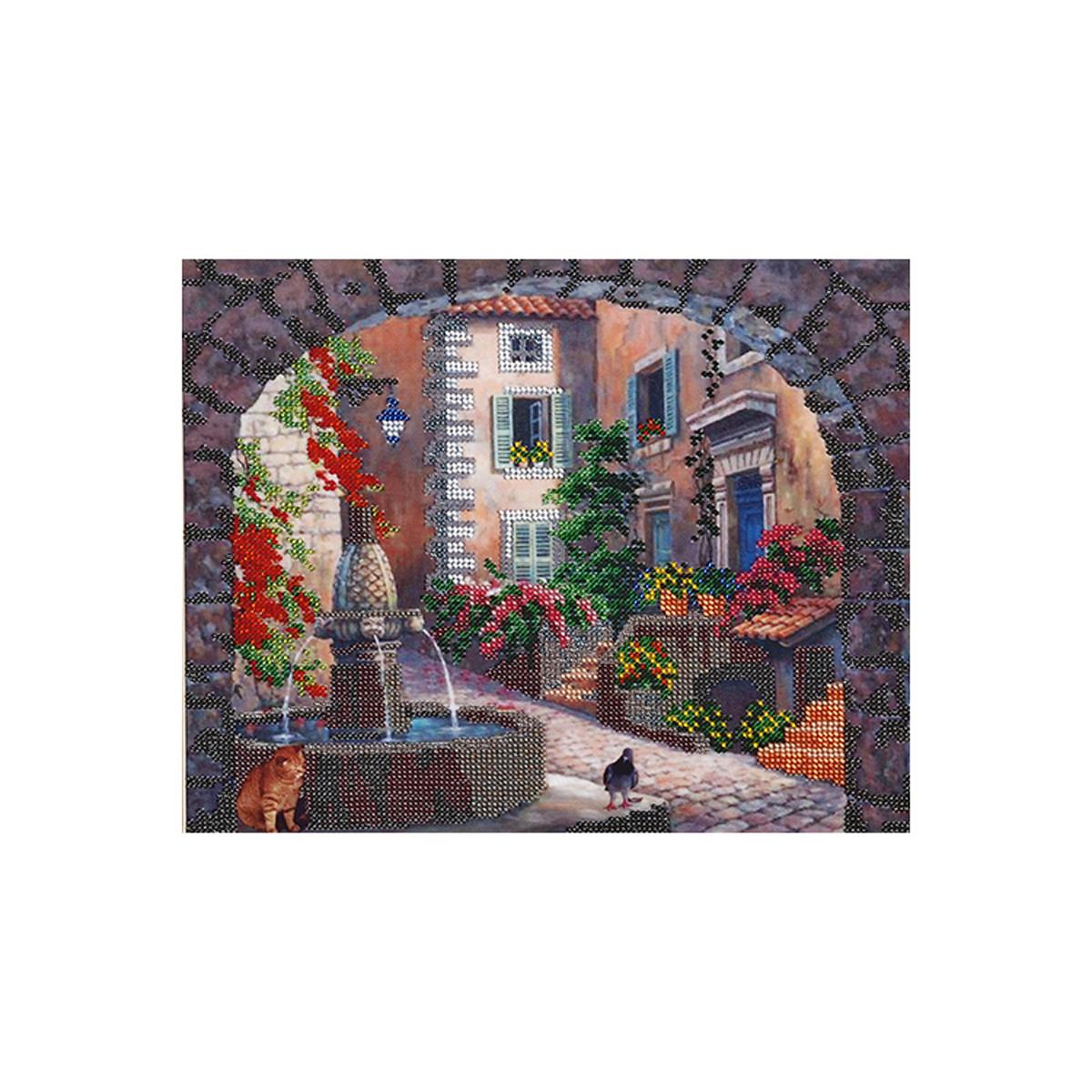 Канва для вышивания бисером Hobby&Pro Встреча у фонтана581803