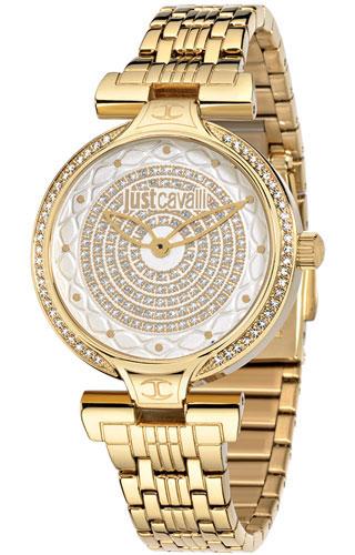 Часы наручные женские Just Cavalli Lady J, цвет: золотой. R7253579501R7253579501стразы из стекла, ПВД покрытие золотом