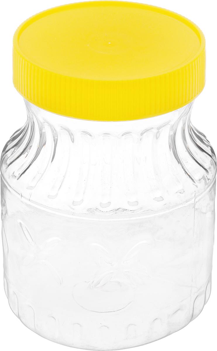 Банка Альтернатива Медовая, цвет: желтый, прозрачный, 700 млM966_желтый, прозрачныйБанка Альтернатива Медовая изготовлена из пластика. Изделие абсолютно безопасно для контакта с пищевыми продуктами. Банка закрывается крышкой, которая защищает содержимое от влаги и сохраняет продукты ароматными и свежими. В такой банке можно хранить мед, варенье, различные сыпучие продукты. Она практична и функциональна, пригодится в любом хозяйстве. Диаметр банки (по верхнему краю): 8 см. Высота банки (с учетом крышки): 14 см.