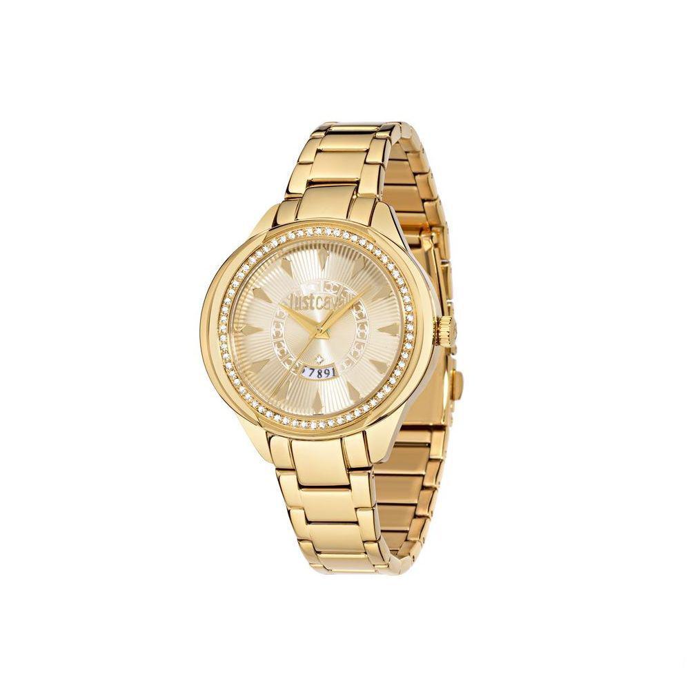 Часы наручные женские Just Cavalli JC01, цвет: золотой. R7253571501R7253571501стразы из стекла, ПВД покрытие золотом