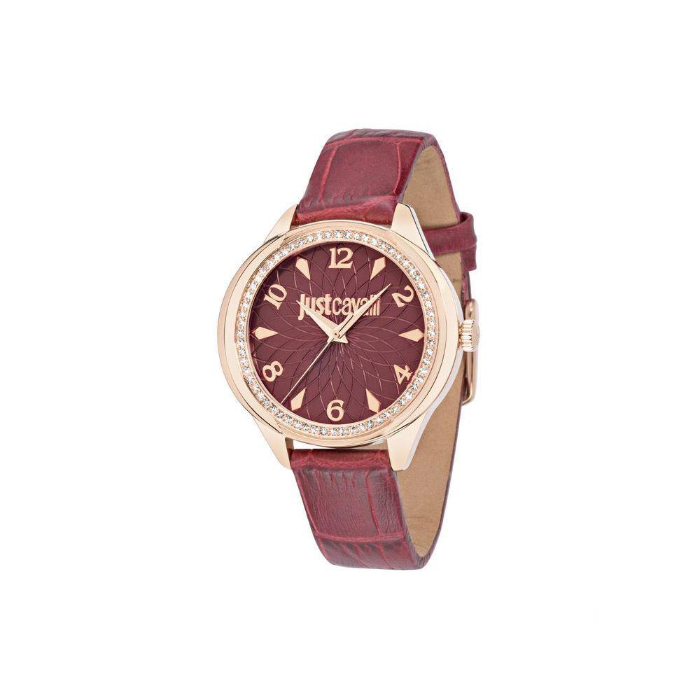 Часы наручные женские Just Cavalli JC01, цвет: бордовый. R7251571508R7251571508стразы из стекла, ПВД покрытие золотом